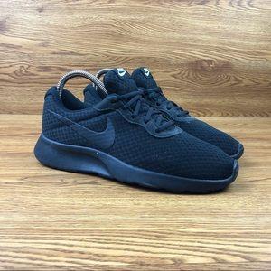 Nike Tanjun Black Athletic Running Sneakers